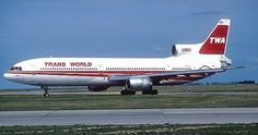 TWA L-1011 Tristar, use to see them in KSTL all the time in the old days.  The 3 RB2-11's would make an awesome whine.