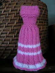 Cute little dress for Barbie in baby yarn.