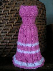 Cute little dress for Barbie in baby yarn.