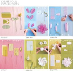Six Ways To Make Beautiful Flowers Step By DIY Tutorial Instructions