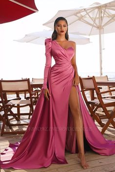 Long Sleeve Evening Gowns, Prom Dresses Long With Sleeves, One Shoulder Dresses, Off Shoulder Evening Gown, Dress Long, Gala Dresses, Maxi Gowns, Evening Gowns Dresses, Long Formal Dresses