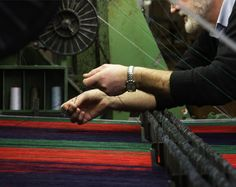 Foxford Blankets being crafted.