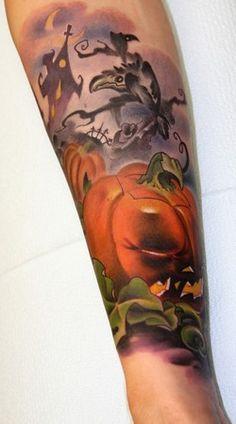 Tattoos Halloween Pumpkin Tattoo