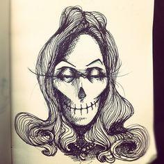 #sketchbook #skull - @zutra- #webstagram