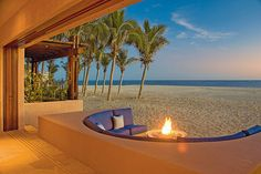 I would like to be sitting around this firepit anytime soon!