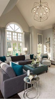 Best Living Room Design, Family Room Design, Living Room Grey, Small Living Rooms, Formal Living Rooms, Living Room Modern, Interior Design Living Room, Living Room Designs, Family Rooms