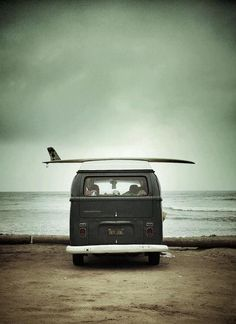 Miluccia ◆, van, surf board, sea, beach, ocean, water, vintage