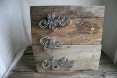 String Art 24x24 More Than Anything Barn Wood by RambleandRoost