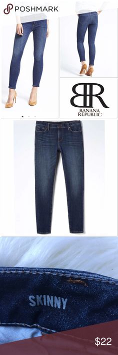 """Banana Republic skinny jeans size 27P Medium Wash Banana Republic skinny jeans size 27P Medium Wash. very good condition. Inseam about 28"""". True to size. Bundle and Save. ❣️15% discount applied automatically to orders of 3 or more items.  Banana Republic Jeans Skinny"""