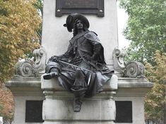 """Statue_d'Artagnan_Paris / The Three Musketeers  is a novel by Alexandre Dumas,  serialized in March–July 1844. Set in the 17th century, it recounts the adventures of a young man named d'Artagnan after he leaves home to travel to Paris, to join  Louis XIV's Musketeers of the Guard. D'Artagnan is not one of the musketeers of the title; those are his friends Athos, Porthos, and Aramis, inseparable friends who live by the motto """"all for one, one for all"""" ."""