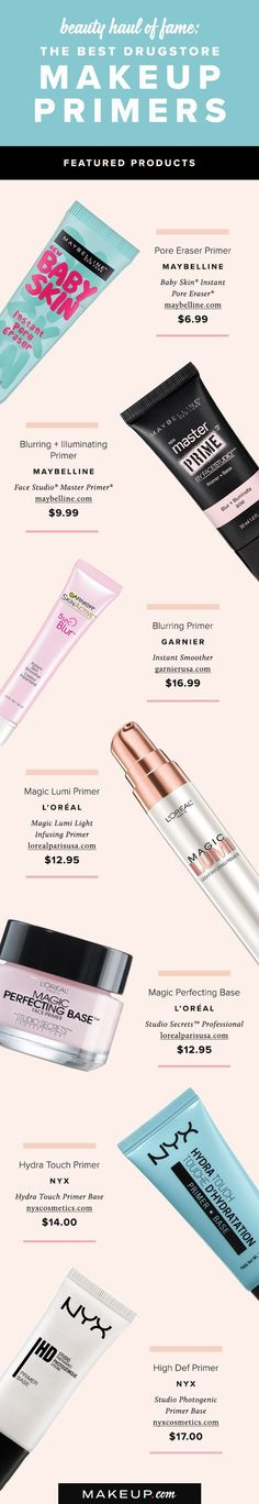 Great makeup application begins with great primer. Follow this shopping guide to find the best affordable makeup primers available right at the drugstore.