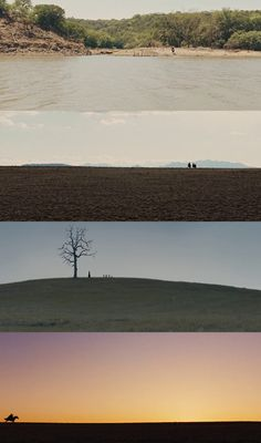 These are some good examples of wide shots in film. The camera is very far away from the subject so that the entire landscape/surroundings are visible, but the subject itself is not lost and still appears as a small speck in the distance. Cinematic Photography, Film Photography, Roger Deakins, Best Cinematography, Light Film, Movie Shots, Film Inspiration, Film Serie, Moving Pictures