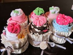A Lott Of Ideas: { baby onsie cupcakes } use a coffee filter!
