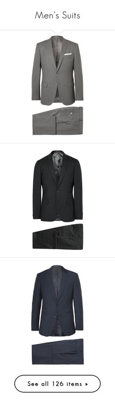 """Men's Suits"" by immortal-longings ❤ liked on Polyvore featuring men's fashion, men's clothing, men's suits, hugo, boglioli, paul smith mens suits, suit, prada mens suits, prada mens clothing and gucci mens clothing"