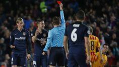 Atlético de Madrid: Fernando Torres lloró y pidió perdón por expulsión. April 06, 2016.