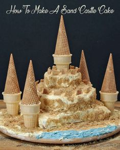 How To Make A Sand Castle Cake