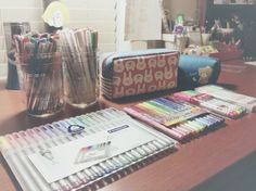 "tbhstudying: ""I have a terrible reputation for spending my money on pens, highlighters, pencils, and whatnot. """