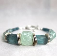 Earthy Fluorite Natural Gemstone Blue Green With by StringerBs
