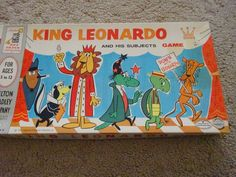 Vintage 1960 Milton Bradley King Leonardo & His Subjects Board Game In Box 4104 #MiltonBradley