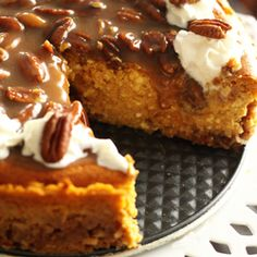 #Cheesecake - There are no words to describe how decadent, delicious this pumpkin cheesecake is...