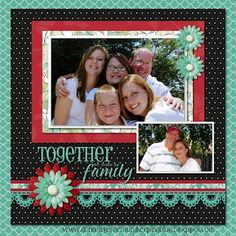 #scrapbook #scrapbooking #layout #family