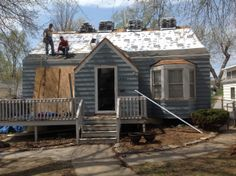 ALMOST DONE: The siding & roof are done on the new home makeover ...