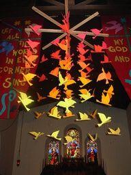 messy church pentecost crafts
