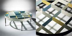 Diamond patterned coffee table | Gio Ponti