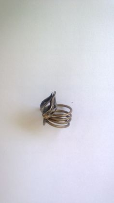 Repousse gold and silver ring by Maria Vasiliou.