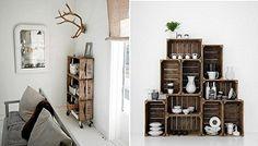 Estantería reciclada, cajones, muebles, accesorios, decoración