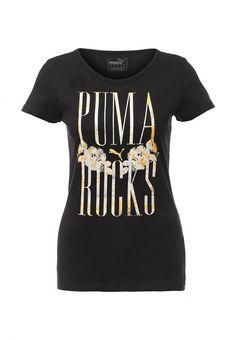 Футболка Puma Rockstar Music Tee Футболка Puma. Цвет: черный.  Сезон: Весна-лето 2016. Одежда, обувь и аксессуары/Женская одежда/Одежда/Футболки и топы