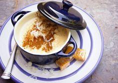 Arroz con Leche, caramelo y coco