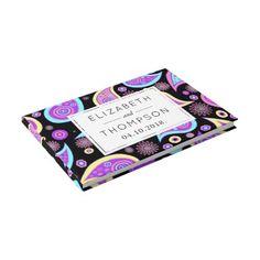 #Wedding - Persian Paisley - Blue Purple Pink Guest Book - #WeddingGuestBook #Wedding #Guest #Books #Guestbook Wedding Guest Books