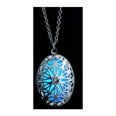 Hollow Out Luminous Locket Necklace (€3,78) ❤ liked on Polyvore featuring jewelry, necklaces, pendant necklace, locket necklace, chain necklace, chains jewelry and punk jewelry