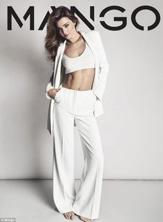 Miranda Kerr flashes her flat stomach in photo shoot for Mango as she revealed as new face of the brand | Mail Online
