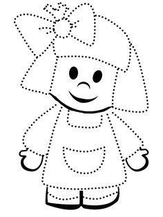 Preschool Writing, Numbers Preschool, Preschool Learning Activities, Preschool Worksheets, Kids Learning, Dotted Drawings, Drawing Activities, Alphabet For Kids, Girls Quilts