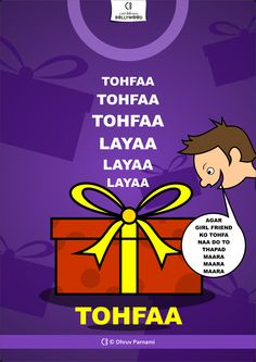 #Tohfaa #Tohfaa #Tohfaa #LayaaLayaaLayaa movie poster by ©DhruvParnami