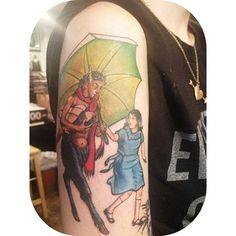 Sr. Tumnus e Lucy | 31 tatuagens de babar para os amantes de livros de aventuras fantásticas
