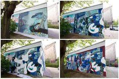 Step by step at the #klub7cube wall #berlin #klub7 #wallpainting #stepbystep #prozess