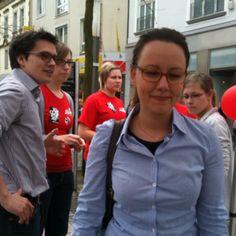 Wahlkampf der Jusos in Herne vom 28.04.12