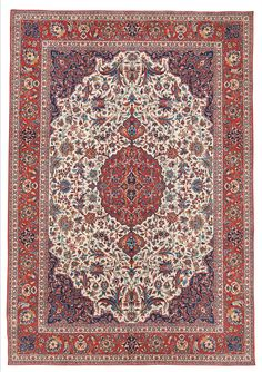 Persian Isfahan rug, late 19th c