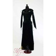 Bellatrix Harry Potter Costume Dress Adult Custom ($1,793) ❤ liked on Polyvore featuring costumes, adult harry potter costumes, harry potter costumes, harry potter halloween costumes, bride costume and adult costumes