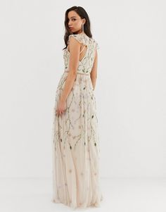 Browse online for the newest ASOS DESIGN Tall pretty embroidered floral and sequin mesh maxi dress styles. Shop easier with ASOS' multiple payments and return options (Ts&Cs apply). Couture Mode, Couture Fashion, Sheer Dress, Sequin Dress, Tall Dresses, Formal Dresses, Printed Bridesmaid Dresses, Different Wedding Dresses, Traditional Wedding Dresses