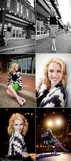 Creative Senior Portrait Shoot in Paramount Theatre. Goldsboro, NC