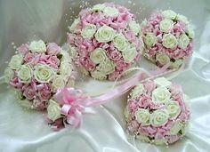 bouquets we do for the wedding party ( wonder if Nicole could make these)