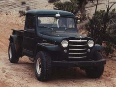 Learn more about the Willys Jeep Pickup Truck including historical information and the specs you'll need for your vintage Jeep Truck restoration project. Jeep Pickup Truck, Jeep 4x4, 4x4 Trucks, Diesel Trucks, Cool Trucks, Jeep Garage, Lifted Trucks, Vintage Jeep, Vintage Trucks