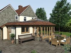 Orangery Extension, House Extensions, Roof Design, Ideal Home, Conservatory, Sunroom, Bungalow, Gazebo, Shed