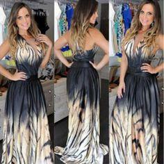 c8cb3286ef5039 Plus Size New 2015 Summer Sexy Club Womens Party Long Dresses Leopard Print  Maxi Chiffon Floor-Length woman Dress Vestidos Anne