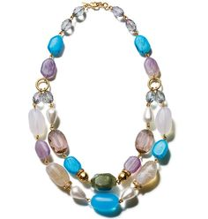 "Avon: Beaded Brilliance Necklace.  Necklace is 18"" L with a 3 1/2"" extender.  Lobster claw on the necklace; spring ring on the extender.  Comes in a black Avon jewelry box with white removable sleeve.  Order at http://harvin.avonrepresentative.com"