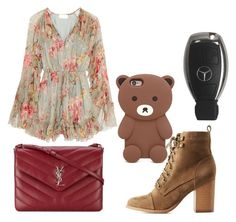 """""""#298 - VAPIANO, Dortmund"""" by marianahdedeus on Polyvore featuring moda, Charlotte Russe, Zimmermann, Yves Saint Laurent e Forever 21"""